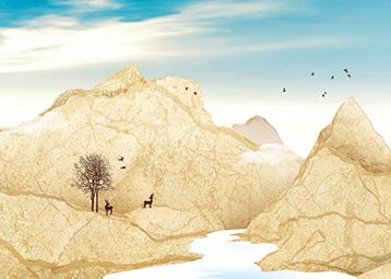 """""""山川熔岩""""瓷质抛光砖"""