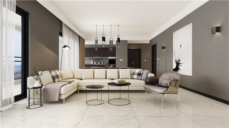 其他搭配风格:欧式现代,新中式   大理石瓷砖索菲特金ipgs90007-720v