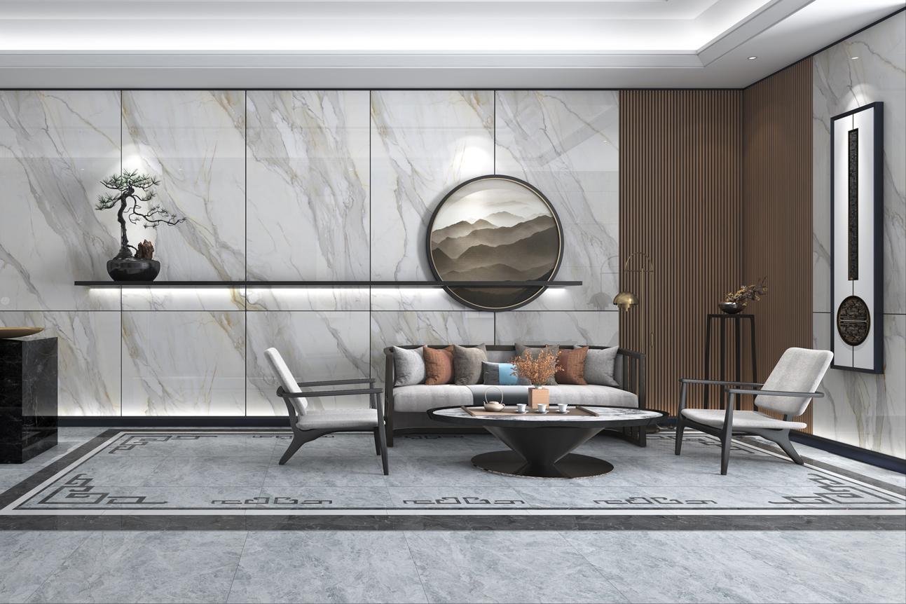 大理石瓷砖冰川白IPGS1890082效果图1